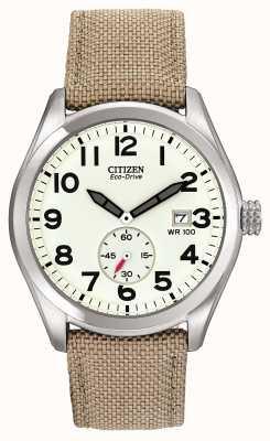 Citizen Eco-Drive Herren Leinwand Armbanduhr BV1080-18A