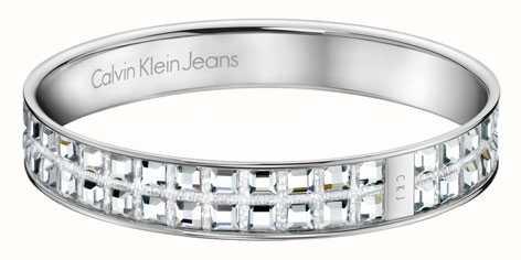 Calvin Klein Damen-Kristall eingestellt Armreif KJ37AB01050M