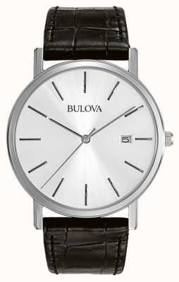 Bulova Gentleman Kleid silber schwarz 96B104 Armbanduhr