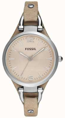 Fossil Damen Analog Lederband ES2830