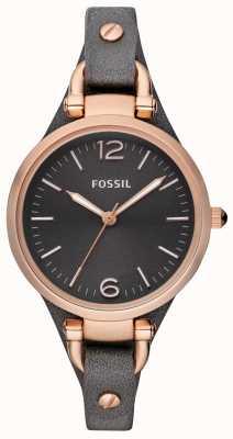 Fossil Damen Lederband Analoguhr ES3077