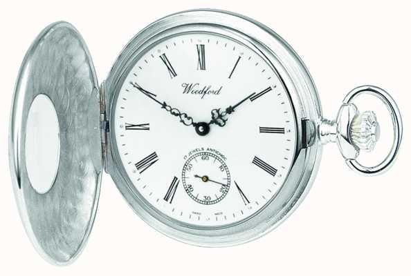 Woodford Mens Silber mit Handaufzug mechanische analoge Uhr 1004