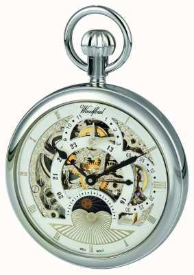 Woodford Chrome, Skelett-Zifferblatt, zwei Zeitzonen Taschenuhr 1050