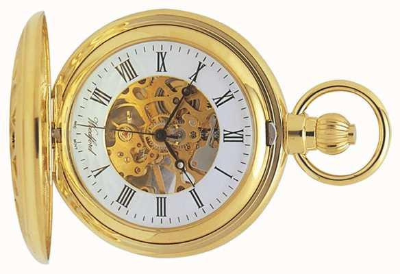 Woodford | Jägerskelett vergoldet ausgeschnitten | Taschenuhr | 1029