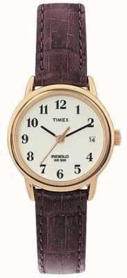 Timex Damen naturbraun leicht Leser Uhr T20071