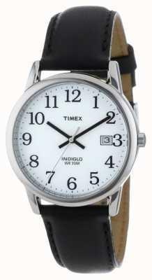 Timex Mens weiß schwarz einfach Leser Uhr T2H281