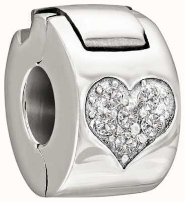 Chamilia Sterling Silber mit Stein - jeweled Herz lock - Kristall 1430-0008