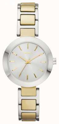 DKNY Ladies 'zweifarbig, rundes Zifferblatt, Armband Armband Uhr NY2401