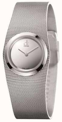 Calvin Klein Ladies 'impulsiv, Edelstahl, Silber Zifferblatt Uhr K3T23128