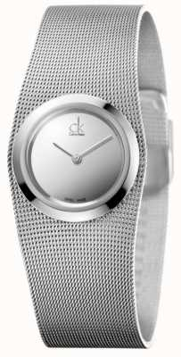 Calvin Klein Die impulsive Uhr der Frauen | Edelstahl-Maschenband | K3T23128