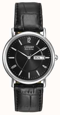 Citizen Herren Armband aus schwarzem Leder eco-drive BM8240-03E