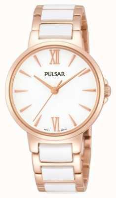 Pulsar Ladies 'Rose weiß klassischen Kleid zu sehen PH8078X1
