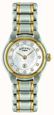 Rotary Damen mit zwei Tönen Armbanduhr LB02602/41L