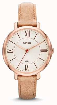 Fossil Ladies 'jacqueline, Rotgold, beige Armband Uhr ES3487