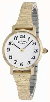 Rotary Klassische goldene Damenarmbanduhr LBI00762