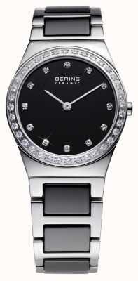 Bering Damen schwarzer Keramik analoge Uhr des Quarzes 32430-742