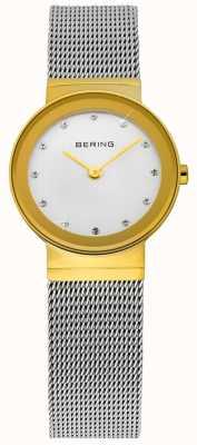 Bering Zeit Damen Gold und Silber klassische Masche 10122-001