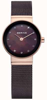 Bering Zeit Damen braun classic mesh Uhr 10122-265