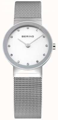 Bering Zeit Damen Silber Mesh-Uhr 10126-000