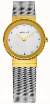 Bering Zeit Damen Silber Mesh-Uhr 10126-001