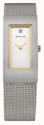 Bering Damen Edelstahl analoge Uhr des Quarzes 10817-004