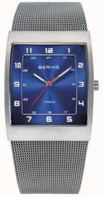 Bering Herrenuhr Edelstahl analoge Uhr des Quarzes 11233-078