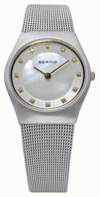 Bering Damen Edelstahl analoge Uhr des Quarzes 11927-004