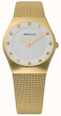 Bering Zeit Damen Gold Maschen Uhr 11927-334