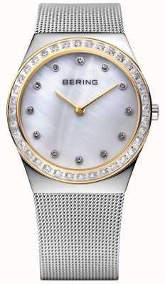 Bering Stein verkrustete ultraflachen Uhr 12430-010