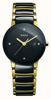 Rado | centrix diamanten | High-Tech-Keramik | schwarzes Zifferblatt | R30930712