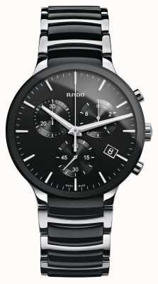 Rado Centrix Chronograph Armbanduhr aus schwarzer Keramik R30130152