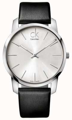 Calvin Klein Herren Stadtuhr minimalistisches schwarzes Armband K2G211C6