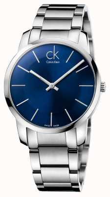 Calvin Klein Mens Stadt Silber Stahl-Armbanduhr K2G2114N
