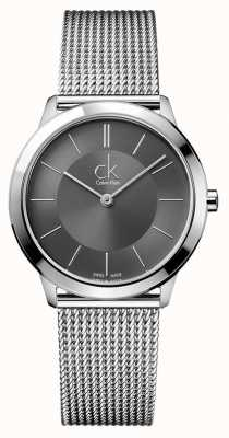 Calvin Klein Minimal Herrenuhr | Edelstahl-Mesh-Armband K3M22124