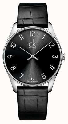 Calvin Klein Classic Leder Herrenuhr K4D211CX