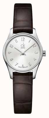 Calvin Klein Ladies classic silber braun Uhr K4D231G6