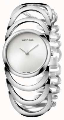 Calvin Klein Damen Body silberne Uhr K4G23126