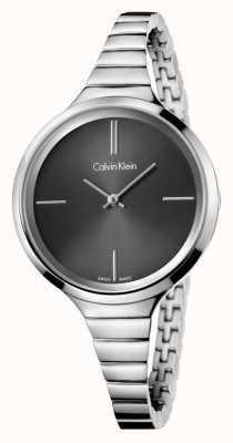 Calvin Klein Ladies lebhafte schwarze silberne Uhr K4U23121