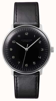 Junghans Herren max bill automatisches schwarzes Leder 027/3400.04