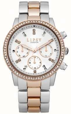 Lipsy Damen weiß und zwei Ton-Armbanduhr LP161