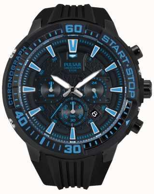 Pulsar Gents x Chronograph schwarz und blau PT3507X1