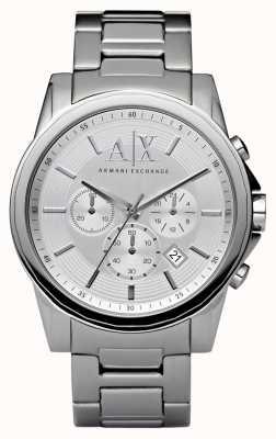 Armani Exchange Herren Silber Stahl Chronograph AX2058