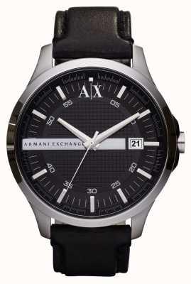 Armani Exchange Männer Datum Lederband Uhr AX2101
