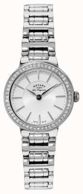 Rotary Damen les originales, Edelstahl, Kristall-Set, Uhr LB90081/02