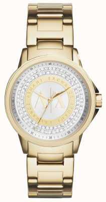 Armani Exchange Damen städtischen vergoldet Kristall-Set AX4321