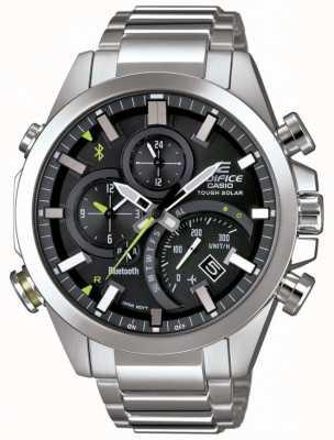 Casio Erstellen Sie Bluetooth-Sync tough Solar Smartwatch schwarz EQB-501D-1AER