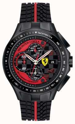 Scuderia Ferrari Renntag der Männer, Schwarzes, Gummiarmbanduhr 0830077