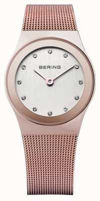 Bering Damen Edelstahl analoge Uhr des Quarzes 12927-366