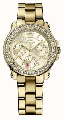 Juicy Couture Damen Gold vergoldet analoge Uhr des Quarzes 1901105