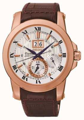 Seiko Mens Premier kinetische Uhr SNP096P1